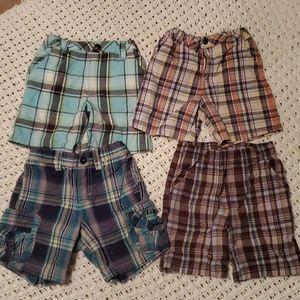 4 bundle plaid shorts 2T
